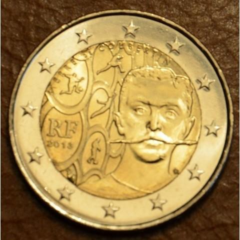 2 Euro Francúzsko 2013 - 150. výročie narodenia Pierre de Coubertin (UNC)
