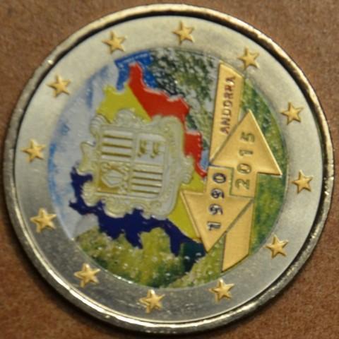 2 Euro Andorra 2015 - 25. výročie colnej dohody s EU III.  (farebná UNC)