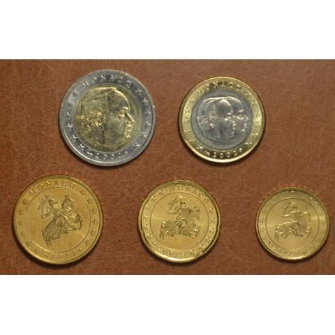 Sada 5 euromincí Monaco 2002 (UNC)