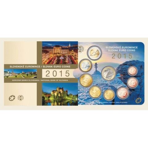 Súbor 8 Slovenských mincí 2015 (BU)