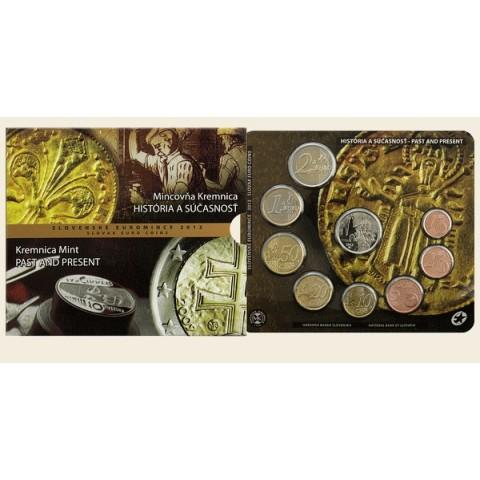 Súbor 8 Slovenských mincí 2012 Mincovňa Kremnica (BU)