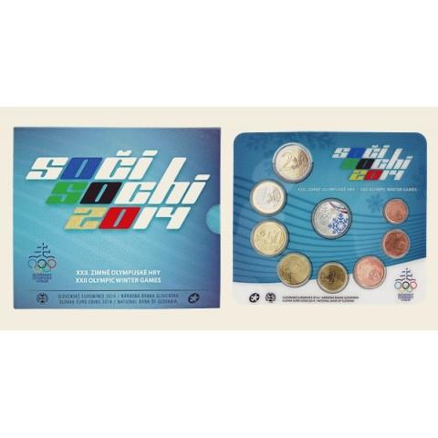 """Súbor Slovenských mincí 2014 """"Soči"""""""