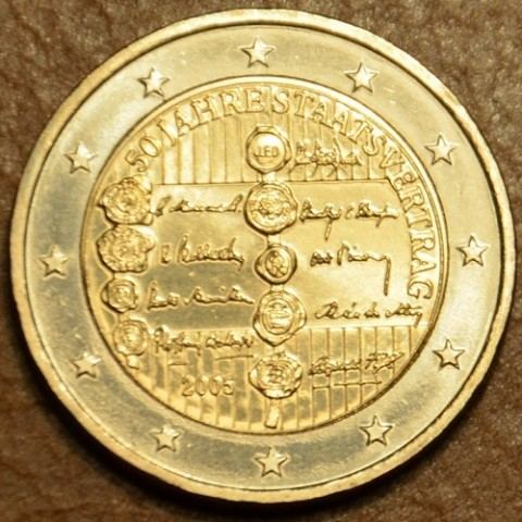 2 Euro Rakúsko 2005 - 50. výročie rakúskej štátnej zmluvy (UNC)