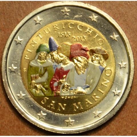2 Euro San Marino 2013 - 500. výročia úmrtia talianskeho maliara Pinturicchia (farebná BU)