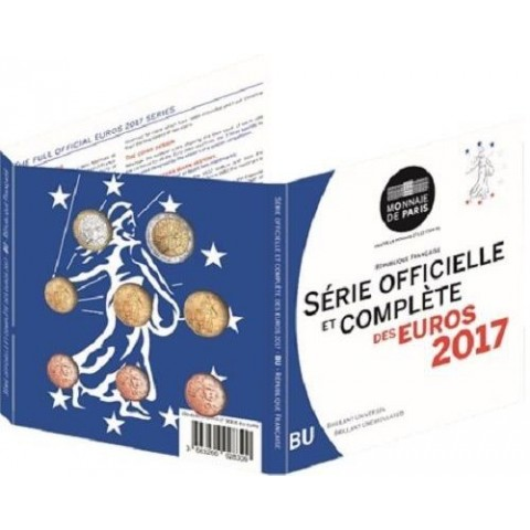 Sada 8 euromincí Francúzsko 2017 (BU)