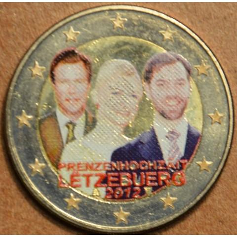 2 Euro Luxembourg 2012 - Royal Wedding II. (colored UNC)