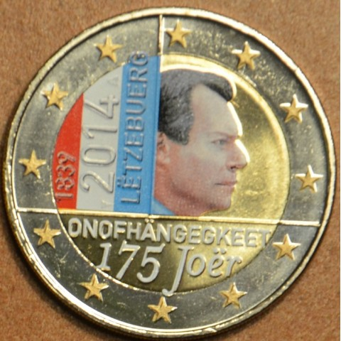 2 Euro Luxembourg 2014 - 175 years of independence II. (colored UNC)