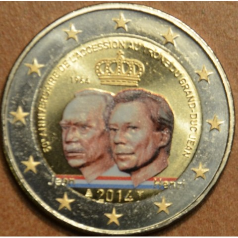 2 Euro Luxembourg 2014 - Grand Duke Jean Accession to the Throne II. (colored UNC)