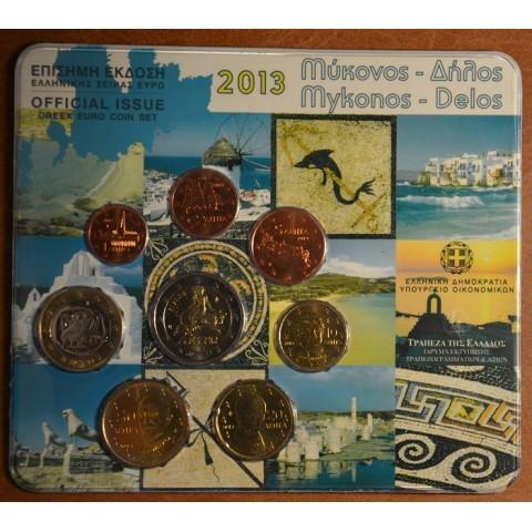 Sada 8 euromincí Grécko 2013 (BU)