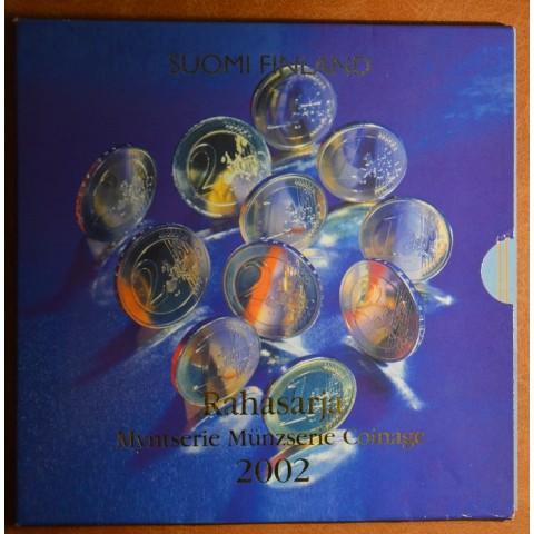 Sada 8 euromincí Fínsko 2002 (BU)