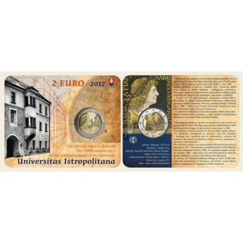 2 Euro Slovensko 2017 - Univerzita Istropolitana (BU karta)