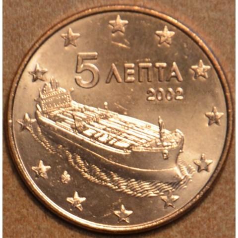 "5 cent Grécko ""F"" 2002 (UNC)"