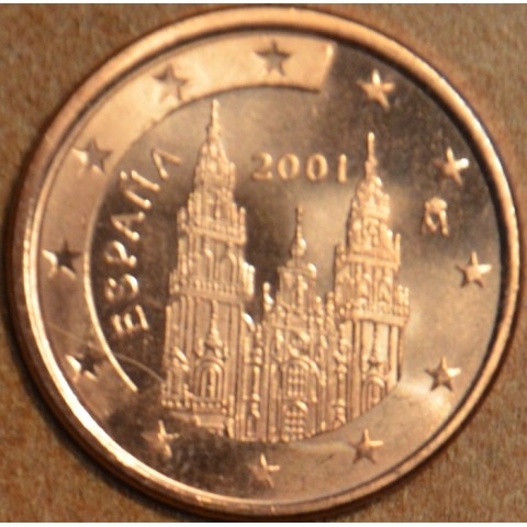 2 cent Španielsko 2001 (UNC)