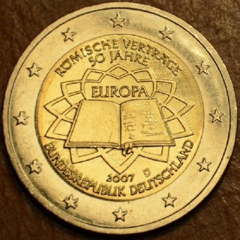 """2 Euro Nemecko """"D"""" 2007 - 50 rokov Rímskej zmluvy (UNC)"""