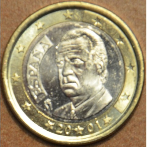 1 Euro Španielsko 2001 (UNC)