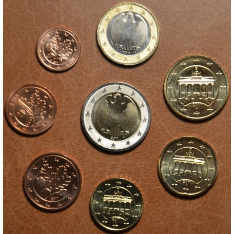 "Sada 8 nemeckých mincí 2011 ""F"" (UNC)"