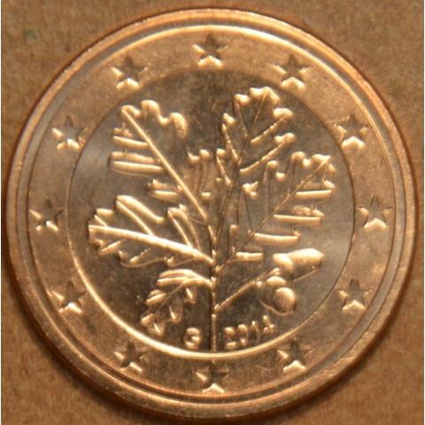 """1 cent Nemecko """"G"""" 2014 (UNC)"""