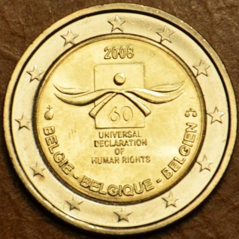 2 Euro Belgicko 2008 - 60. výročie Všeobecnej deklarácie ľudských práv (UNC)