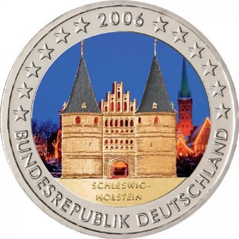 "2 Euro Nemecko ""G"" 2006 - Holstentor v Lübecku / Schleswig-Holstein II. (farebné UNC)"