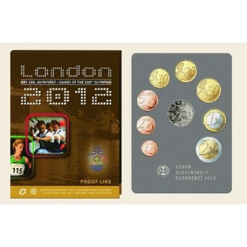 Súbor 8 Slovenských mincí 2012 London (Proof)