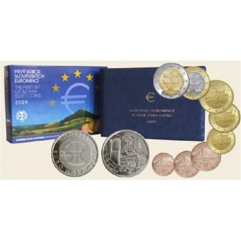 Prvá sada Slovenských mincí 2009 (Proof)