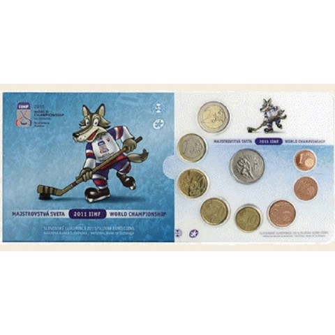 Sada Slovenských mincí 2011 - Majstrovstvá sveta 2011 IIHF (BU)
