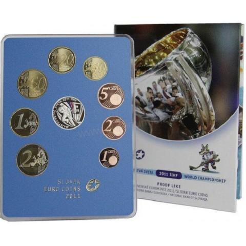 Sada Slovenských mincí 2011 - Majstrovstvá sveta 2011 IIHF (Proof)
