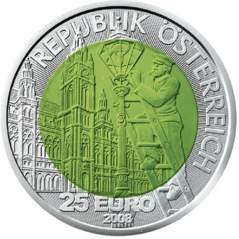 25 Euro Rakúsko 2008 - Svetlo (Niob)