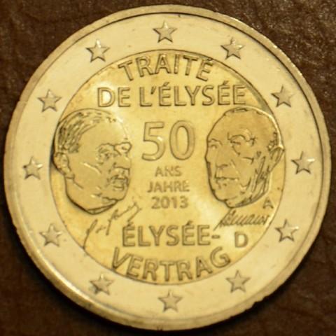 """2 Euro Nemecko """"A"""" 2013 - 50. výročie Elizejskej zmluvy (UNC)"""