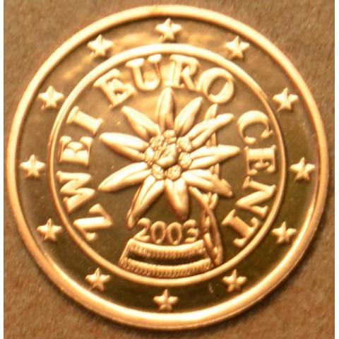 2 cent Rakúsko 2003 (UNC)