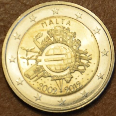 2 Euro Malta 2012 - 10. výročia vzniku Eura (UNC)