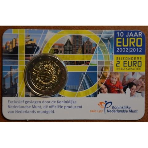 2 Euro Holandsko 2012 - 10. výročia vzniku Eura (BU karta)