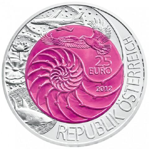 25 Euro Rakúsko 2012 - strieborná niobium minca Bionik (Proof)