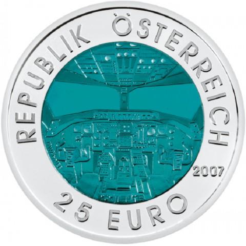 25 Euro Rakúsko 2007 - Rakúske letectvo (Niob)