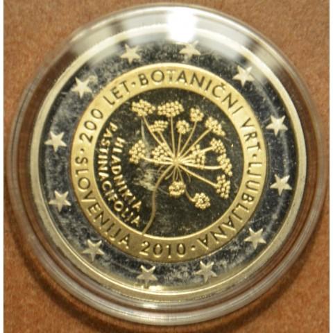 2 Euro Slovinsko 2010 - 200 rokov botanickej záhrady v Ljubljane  (Proof)