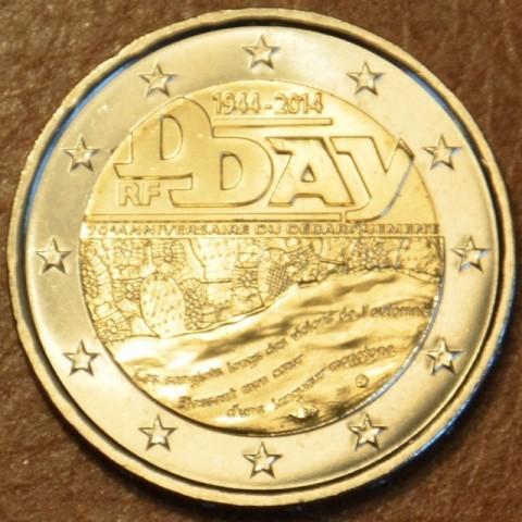 """2 Euro Francúzsko 2014 - 70. výročie dňa """"D"""" (UNC)"""