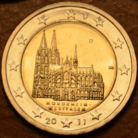 """2 Euro Nemecko """"D"""" 2011 - Severné Porýnie Vestfálsko: Dóm v Kolíne (UNC)"""