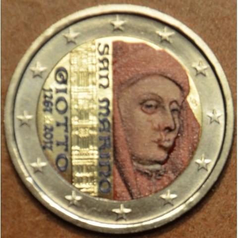2 Euro San Marino 2017 - 750. výročie narodenia Giotta (farebná UNC)