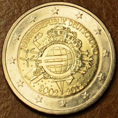 """2 Euro Nemecko """"D"""" 2012 - 10. výročia vzniku Eura (UNC)"""