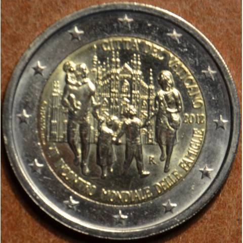 2 Euro Vatikán 2012 - 7. svetové stretnutie rodín (UNC bez foldra)