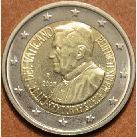 2 Euro Vatikan 2007 - 80. narodeniny pápeža Benedicta XVI. (UNC bez foldra)