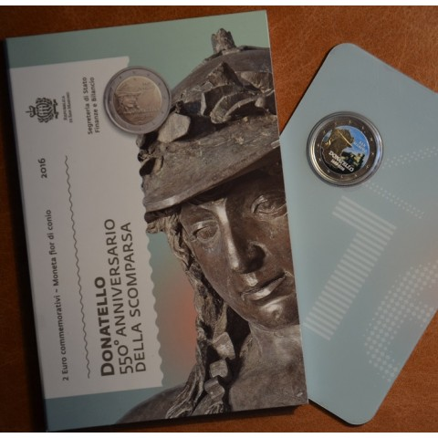 2 Euro San Marino 2016 - 550 výročie úmrtia Donatella  (farebná UNC)
