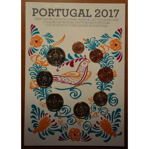Sada 8 portugalských mincí 2017 (UNC)