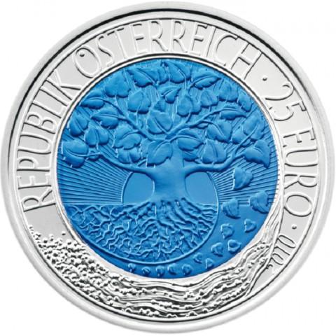 25 Euro Rakúsko 2010 - strieborná niobium minca Obnovitelné energie (Proof)