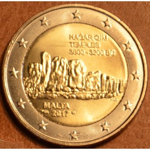 2 Euro Malta 2017 - francúzska značka -  Hagar Qim (UNC)
