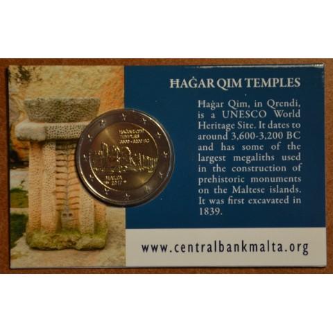2 Euro Malta 2017 - francúzska značka -  Hagar Qim (BU karta)