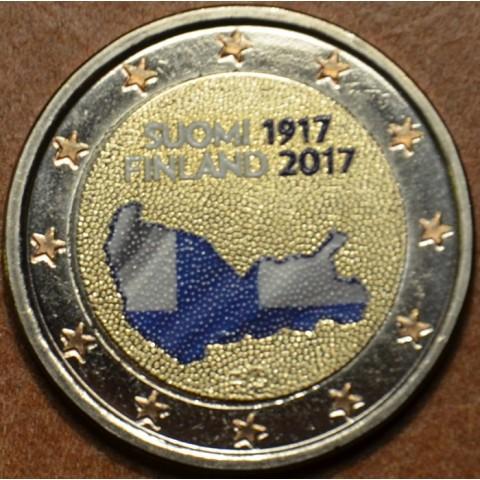 2 Euro Fínsko 2017 - 100 rokov nezávislosti Fínska (farebná UNC)