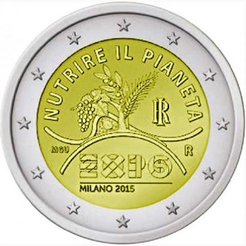 2 Euro Taliansko 2015 - EXPO Milano 2015 (UNC)