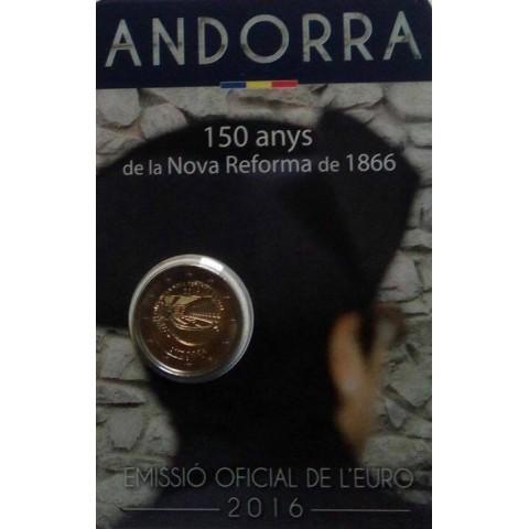 2 Euro Andorra 2016 - Nove reformy (BU karta)