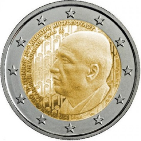 Predpredaj 11/2016 - 2 Euro Grécko 2015 - Dimitri Mitropoulos (UNC)
